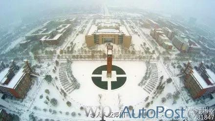美!2015郑州初雪210米高空航拍