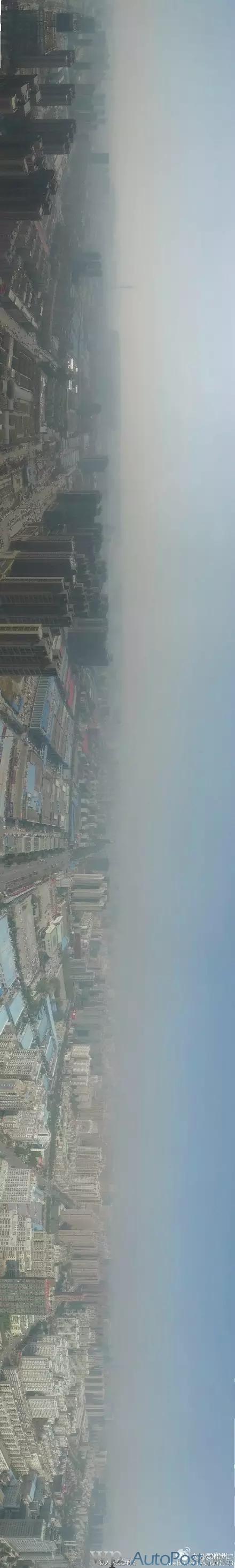 震撼!一张航拍看懂郑州雾霾有多严重