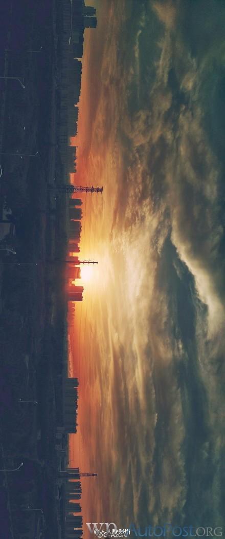 傍晚的郑州夕阳 美么?