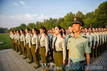 郑州大学万名新生纪念抗战胜利70周年