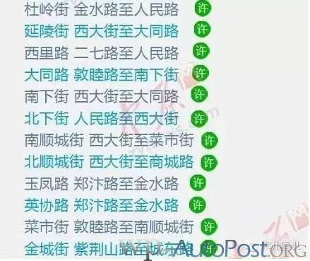 郑州最新停车规则 这17个路段停车将被拖走!