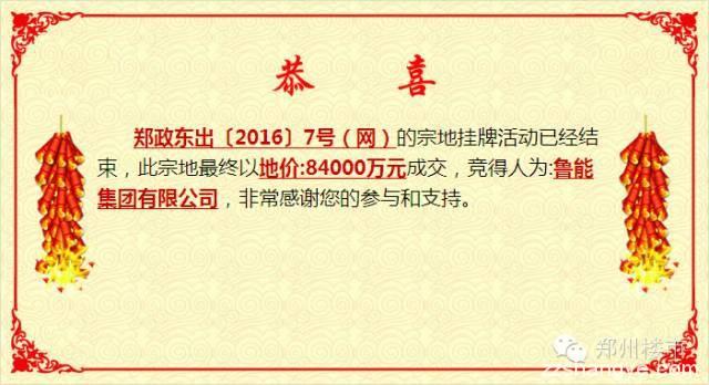 4.25日土拍   鲁能集团17.1亿低调入驻郑东新区龙湖北